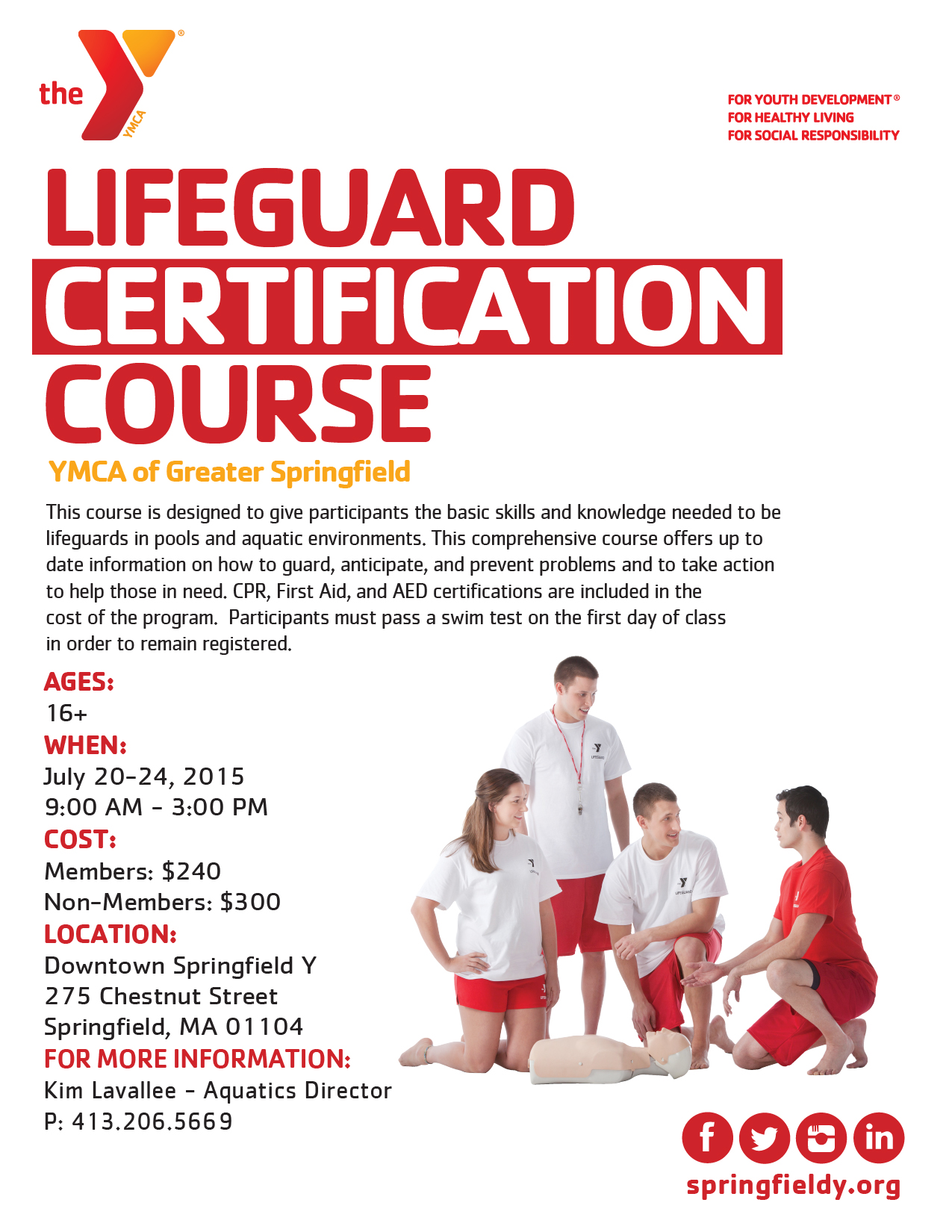 Lifeguard Certification Course Ymca